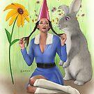 Lawn Gnome by KC Art