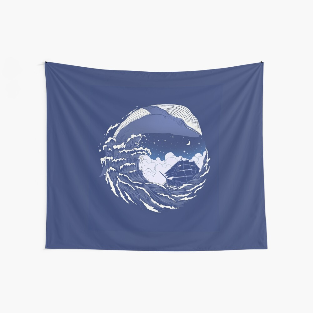 The great whale  Wall Tapestry