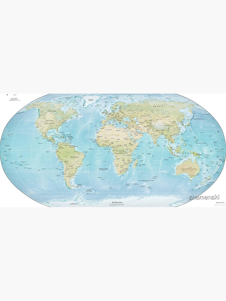 Physical Map of the World 2015 by znamenski