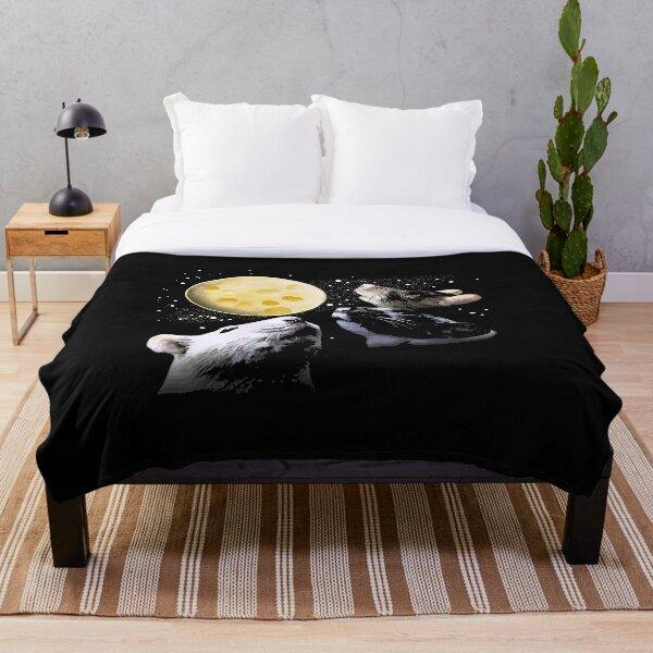 Three Rat Moon Throw Blanket