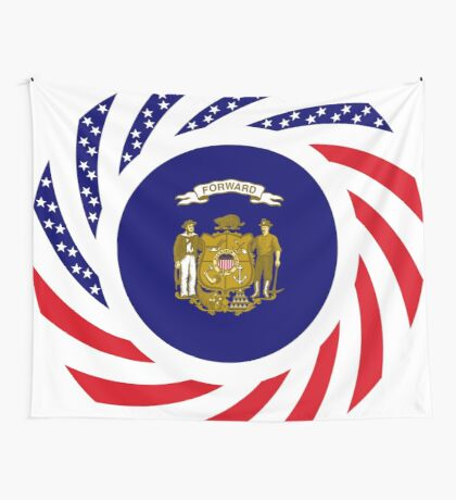 Wisconsin Murican Patriot Flag Series Wall Tapestry