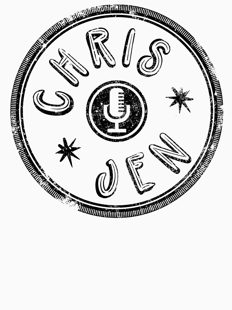 Chris and Jen Circle Stamp - Faded (Black) by chrisandjenshow