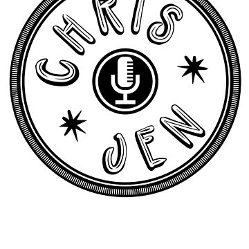 Chris and Jen Circle Stamp (Black) by chrisandjenshow