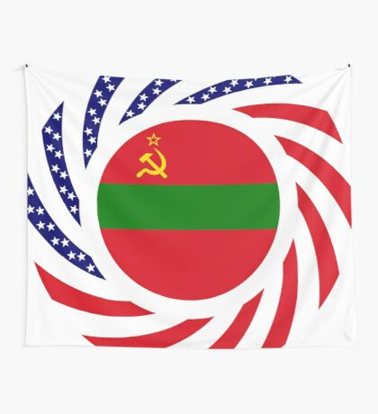 Transnistrian American Multinational Patriot Flag Series Wall Tapestry