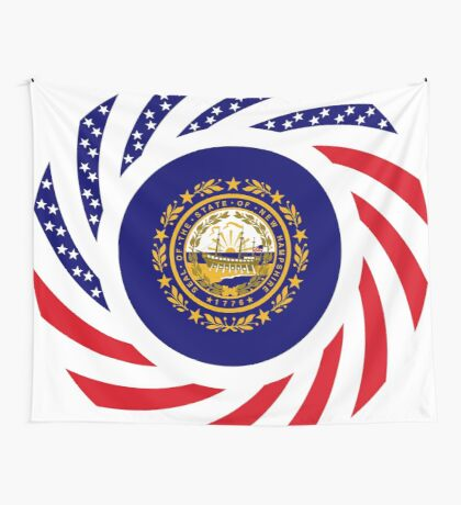 New Hampshire Murican Patriot Flag Series Wall Tapestry