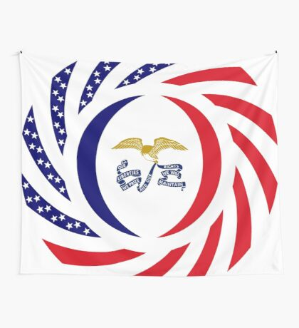 Iowa Murican Patriot Flag Series Wall Tapestry