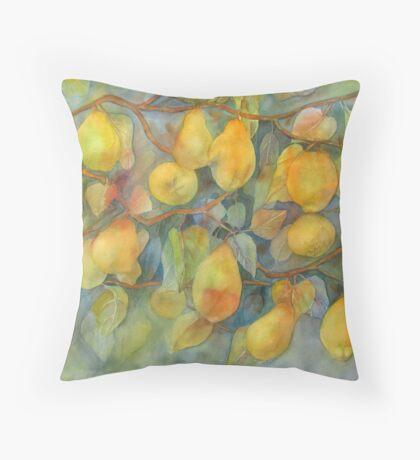 Quince from Gainsborough's Garden Throw Pillow