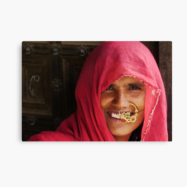 a portrait of rajasthan Canvas Print