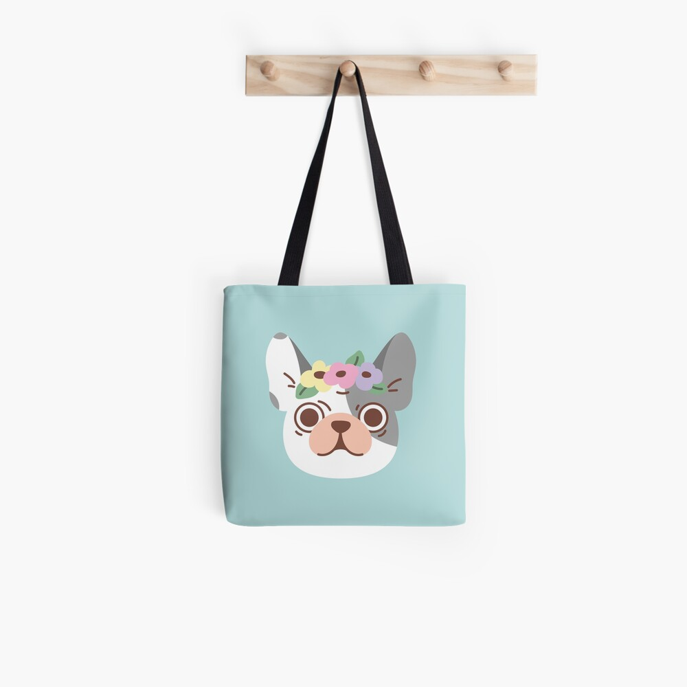 French Bulldog and Flowers Tote Bag