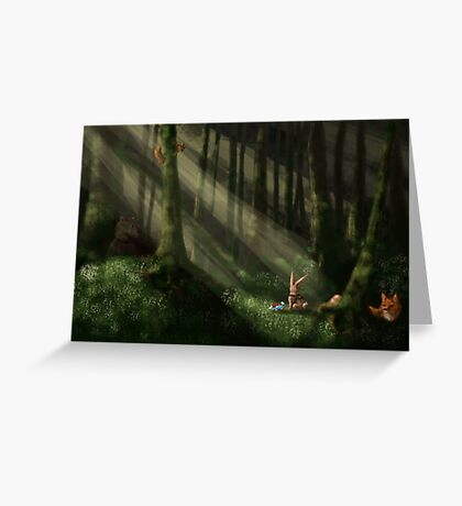 Tomte & Friends Vitsippor Greeting Card