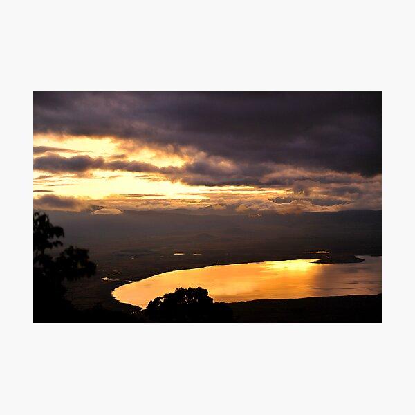 Sunrise over Ngorongoro Crater Photographic Print