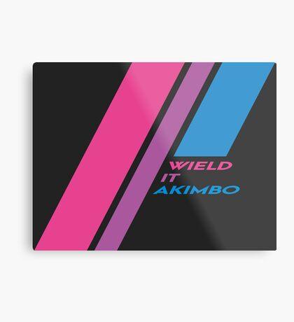 Pride Stripe: Wield it Akimbo Metal Print