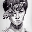 Girl with Moth by Kate Louise Powell