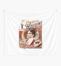 Harry Houdini Master of Cards Vintage Wall Tapestry