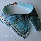 buterfly neclace 100 % silk ,100% original silk painted by Suryani Shinta