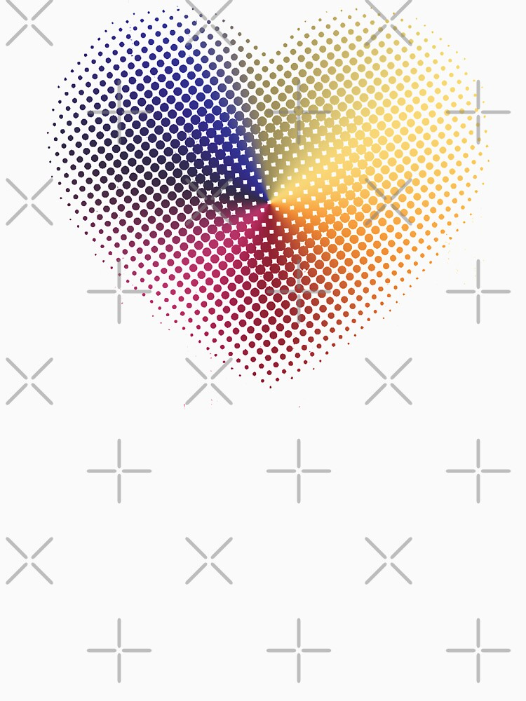 Angle Gradient on Halftone Heart (White) by jrbactor