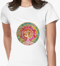 Tree of Life Mandala Women's Fitted T-Shirt