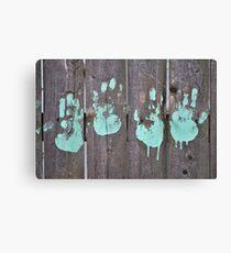 Childs Hand Print Canvas Print