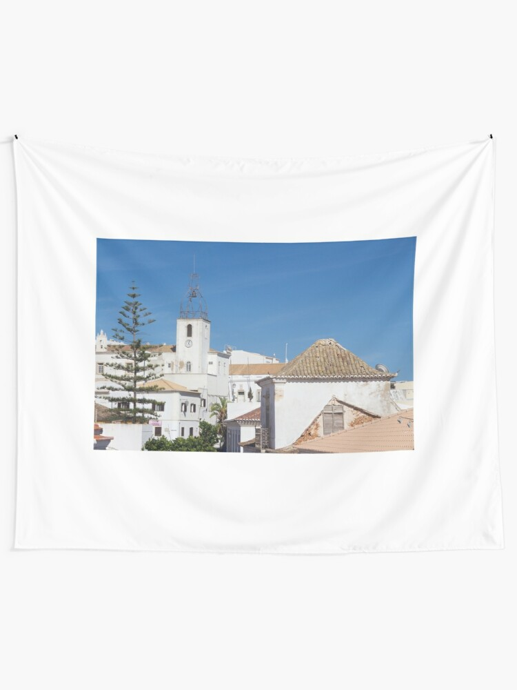 Alternate view of Albufeira Rooftops, Algarve, Portugal Tapestry