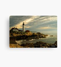 Sunrise at Portland Head Lighthouse Canvas Print