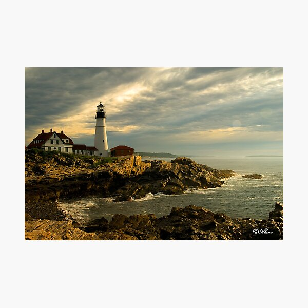 Sunrise at Portland Head Lighthouse Photographic Print
