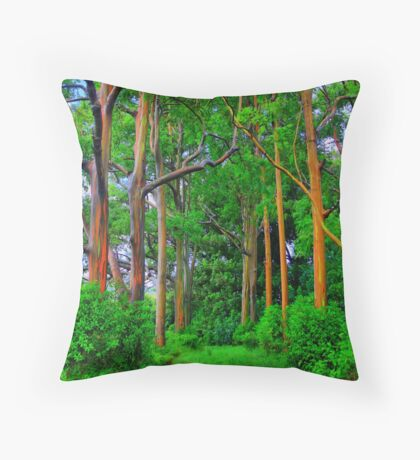 Amazing Rainbow Eucalyptus Throw Pillow