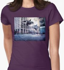 City of whales Womens Fitted T-Shirt