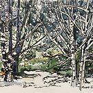 Forest snow, Sweden by Elizabeth Moore Golding