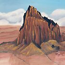 Shiprock ~ Tsé Bit' A'í  ~ Rock With Wings ~ Oil Painting by Barbara Applegate