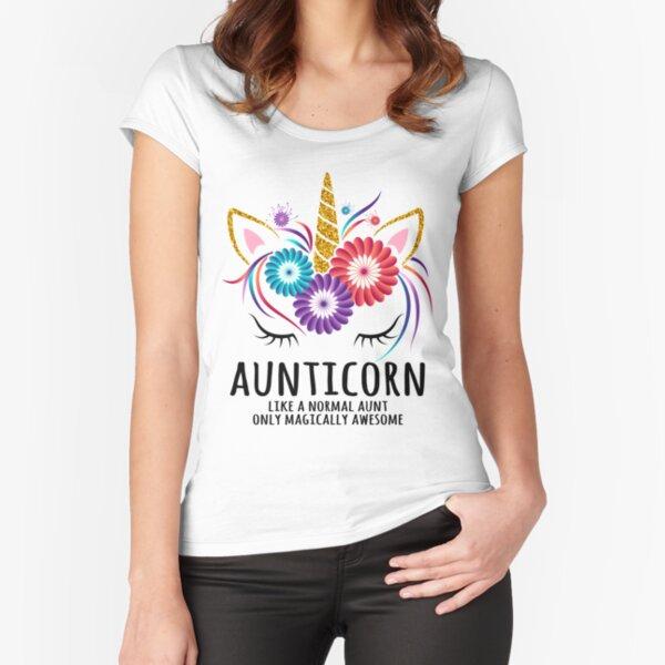 Aunticorn Best Unicorn Aunt  Fitted Scoop T-Shirt