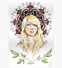 Mandala Girl Poster