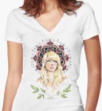 Mandala Girl Women's Fitted V-Neck T-Shirt