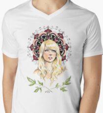 Mandala Girl Men's V-Neck T-Shirt