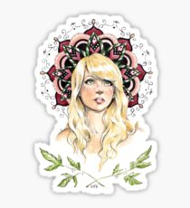 Mandala Girl Sticker