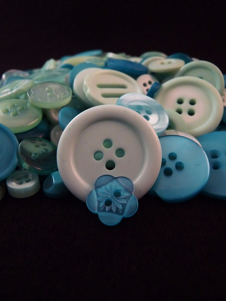 Blue Buttons by Barbara Morrison