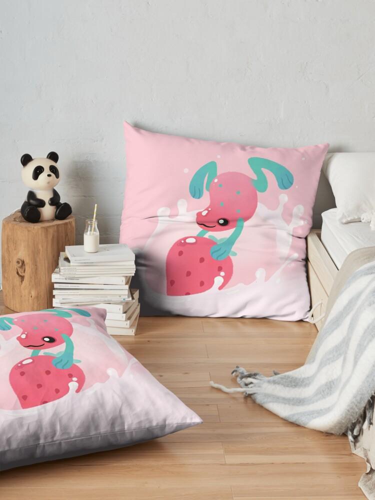 Alternate view of Strawberry poison milk 1 Floor Pillow