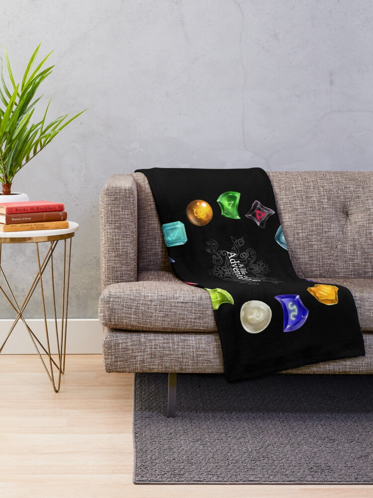 Alternate view of A Life of Adventure Throw Blanket