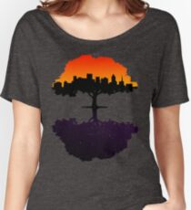 Sunset into Night Women's Relaxed Fit T-Shirt