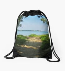 Sheldon Marsh Beach Trail Drawstring Bag