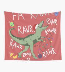 T-Rex Weihnachtsdinosaurier - Dinosaurier-Weihnachten Wandbehang
