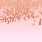 «Light Salmon Pink Gradient Faux Glitter Diamonds» de artsandsoul