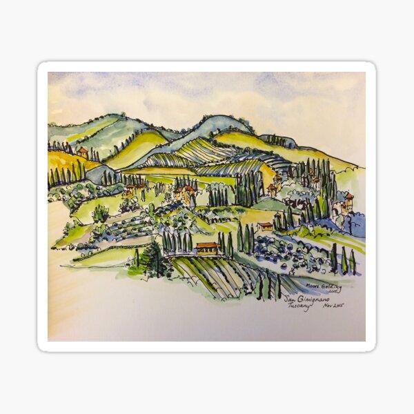 San Gimignano Italy 2015  Sticker