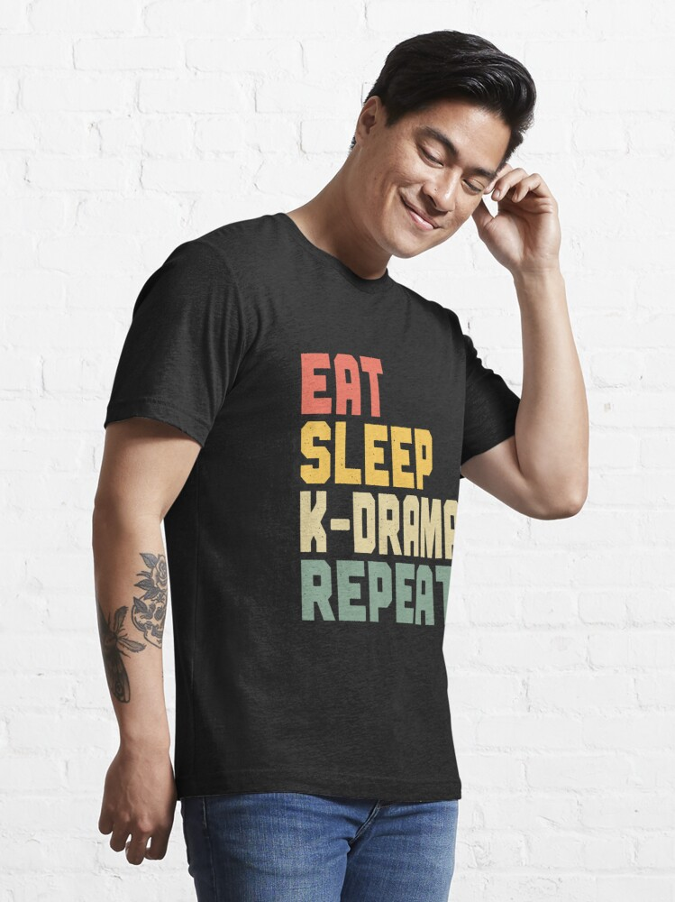 Alternate view of Eat Sleep K-Drama Repeat Essential T-Shirt