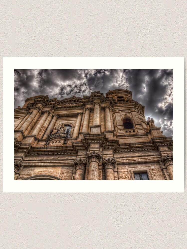 Alternate view of La chiesa di San Francesco - Catania Art Print