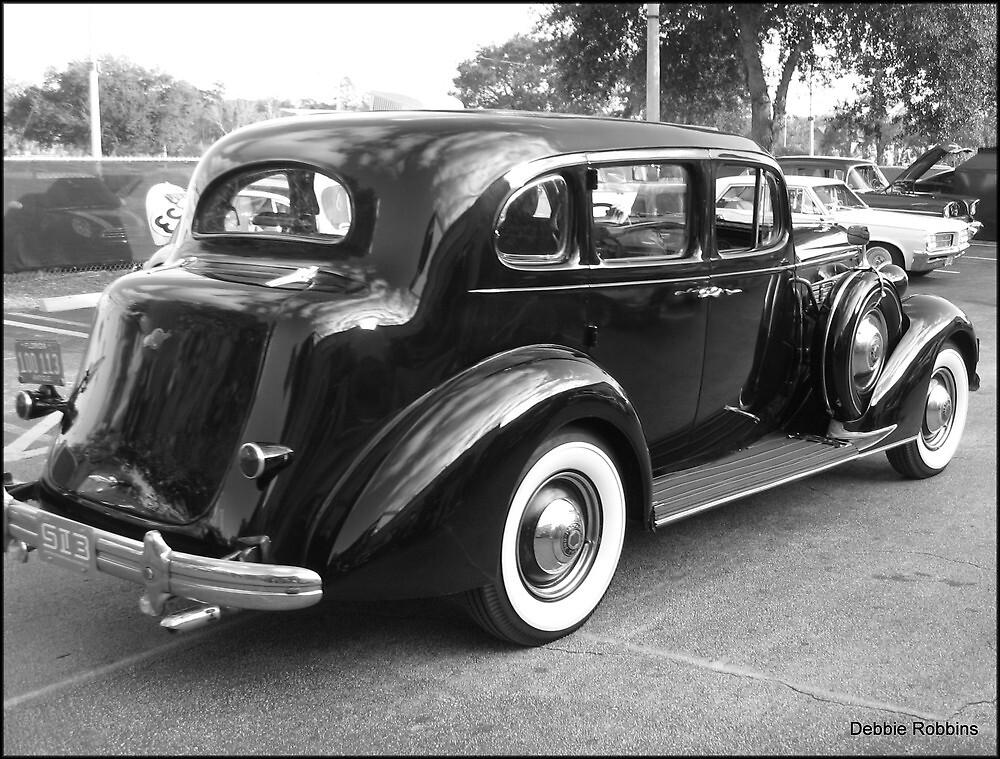 Black 4 Dr. Touring Car Sedan, 30s by Debbie Robbins