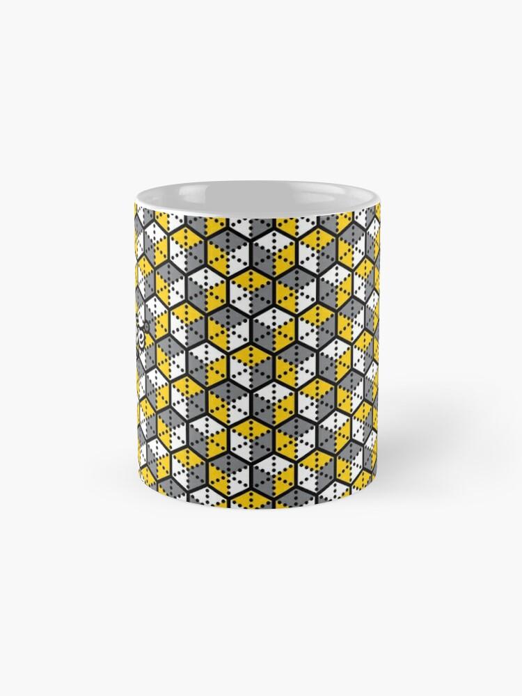 Alternate view of Geometric Cubes Mug