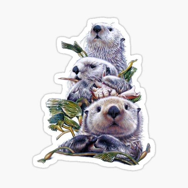 Sea Otter Stack Sticker