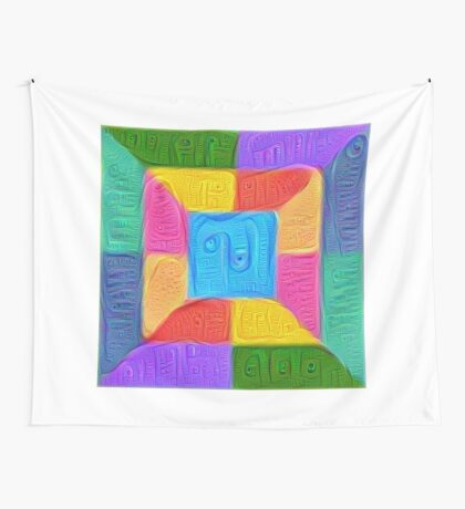 DeepDream Color Squares Visual Areas 5x5K v14 Wall Tapestry