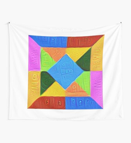 DeepDream Color Squares Visual Areas 5x5K v1447926834 Wall Tapestry