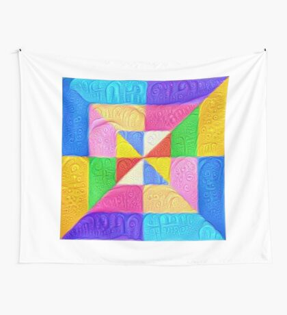 DeepDream Color Squares Visual Areas 5x5K v1448123183 Wall Tapestry